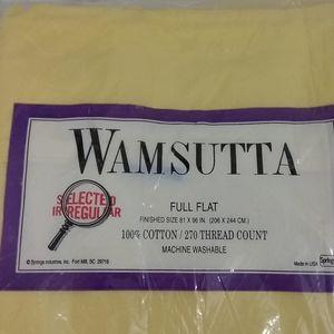 Wamsutta Bedding - Flat sheet yellow NIP cotton 250 thread count